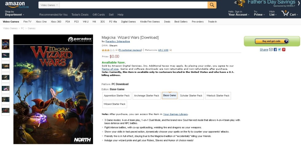 Free Magicka Wizard Wars Download at Amazon1