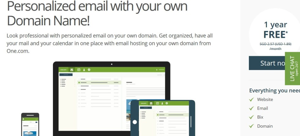 Free Web Hosting at One.com2