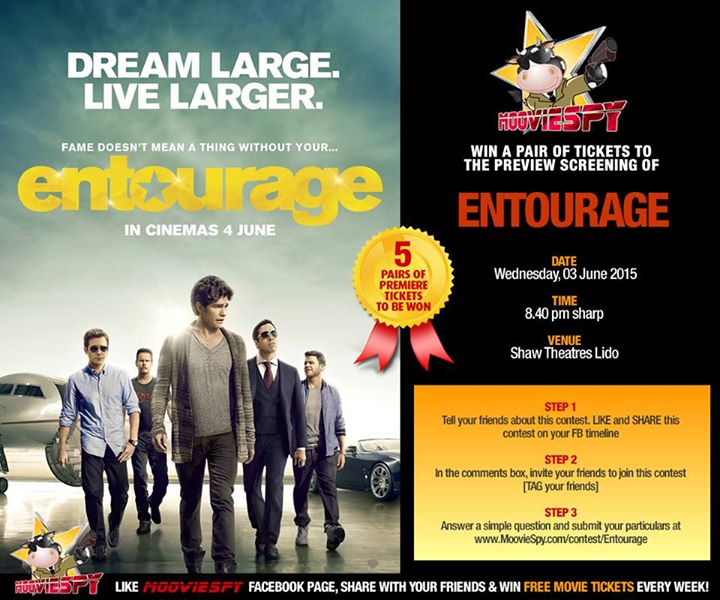 Win Preview Screening of ENTOURAGE at Moovie Spy Singapore