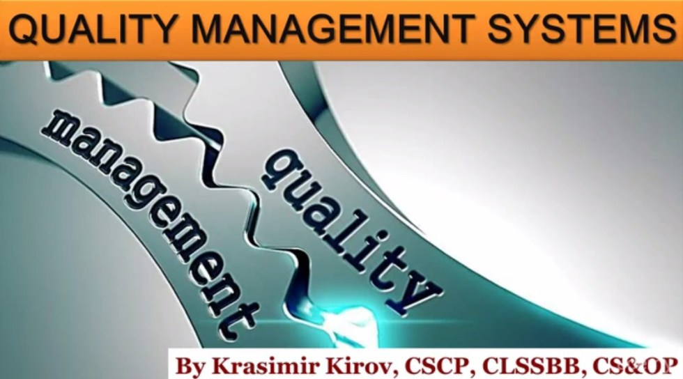 Free Udemy Course on Quality Management SystemsManagement and Control of Quality Banner