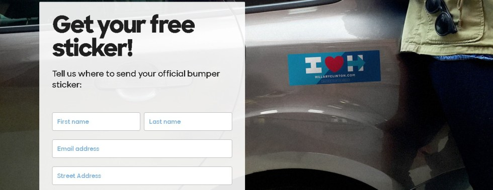 Get your free Hillary Clinton sticker1