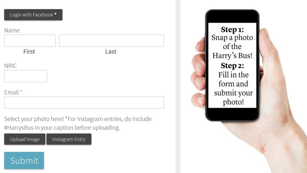 Win $200 Credit Harry's SNAP & WIN Contest Form