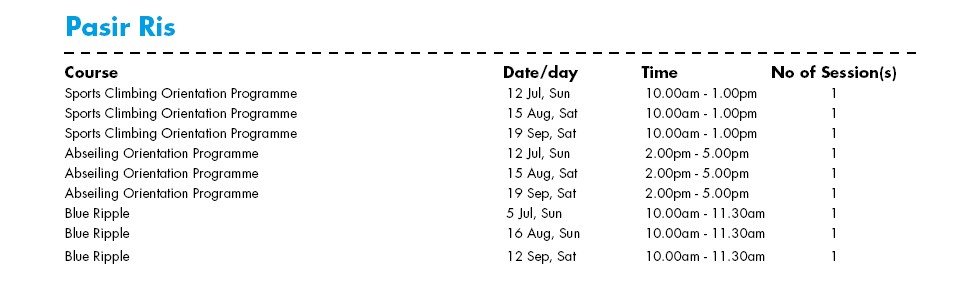 Celebrate SG50 & PA Community Day with Free Courses at Pasir Ris Water-Venture Outlet Singapore
