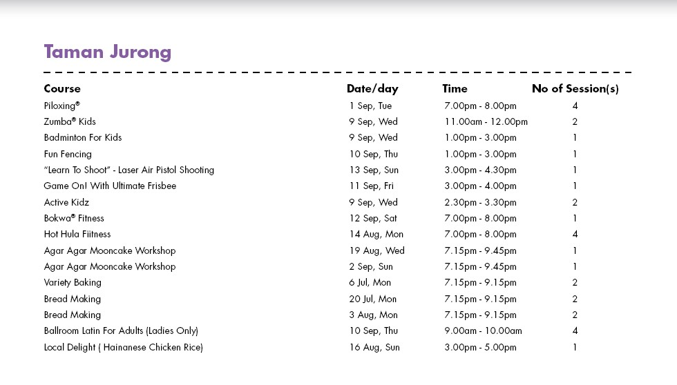 Celebrate SG50 & PA Community Day with Free Courses at Taman Jurong CC Singapore