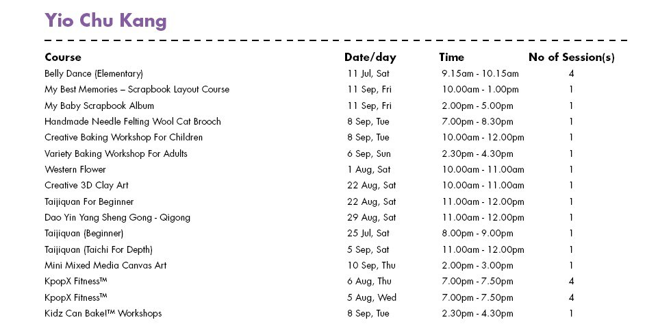 Celebrate SG50 & PA Community Day with Free Courses at Yio Chu Kang CC Singapore