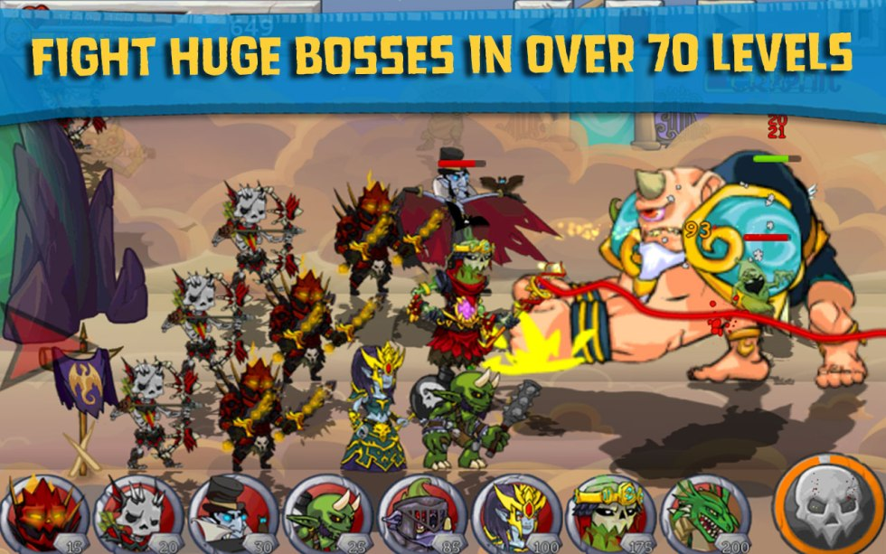 Free Android App at Amazon Monster Wars (3)