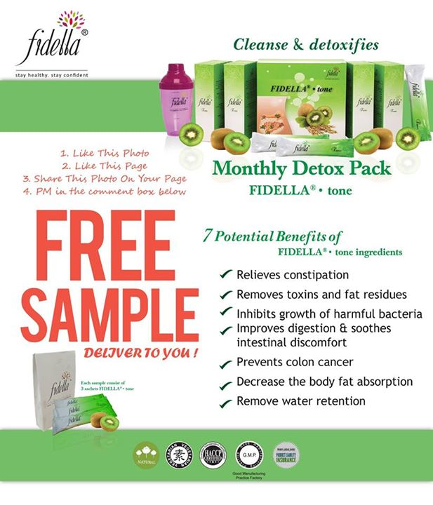 Free Fidella Monthly Detox Pack