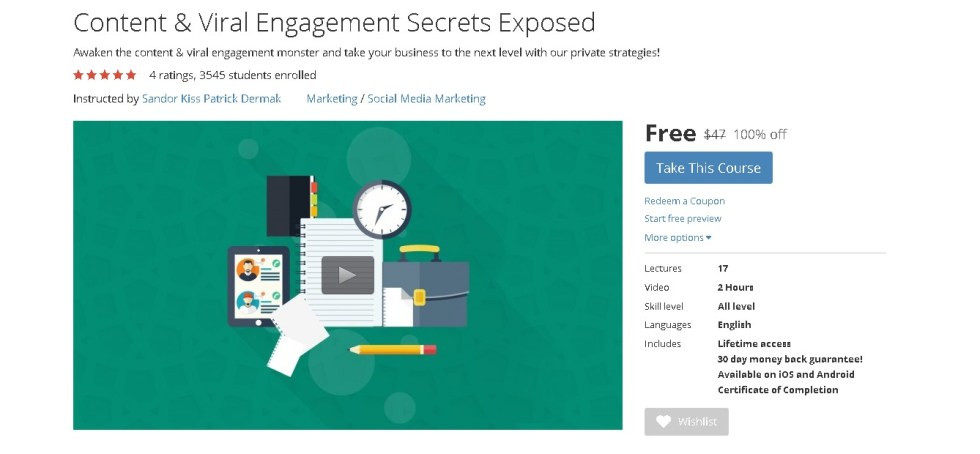 Free Udemy Course Content & Viral Engagement Secrets Exposed