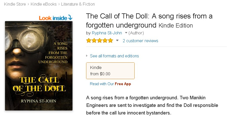 Free eBook at Amazon The Call of The Doll A song rises from a forgotten underground