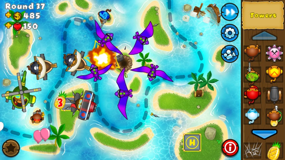 Free iPhone & iPad touch game Bloons TD5 1