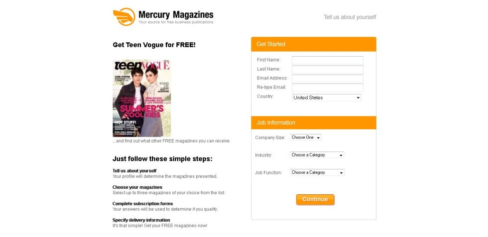 Get Teen Vogue Magazine for FREE! at Mercury Magazines1
