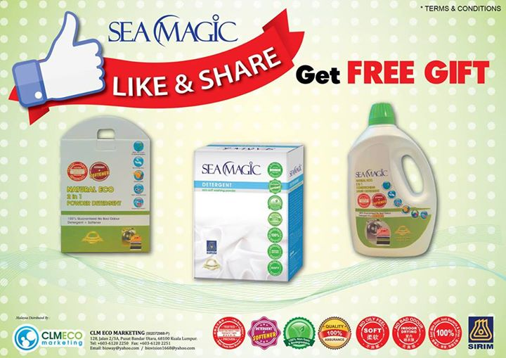 Like & Share  to Get FREE GIFT @ Sea Magic Malaysia
