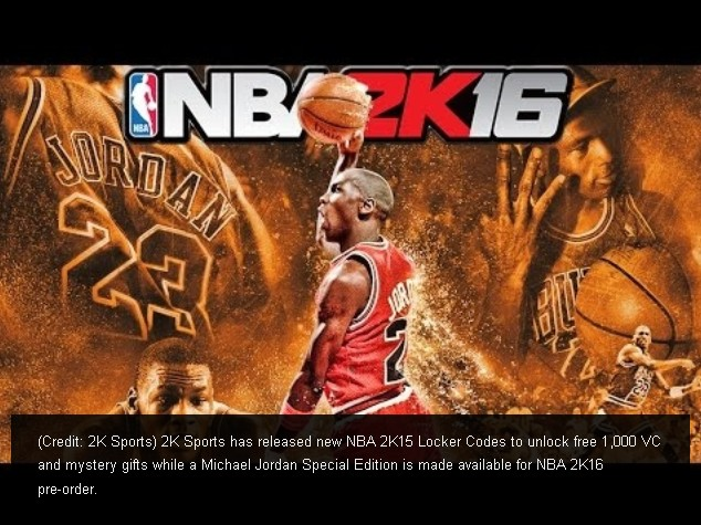 NBA 2K15 Locker Codes Unlock FREE 1,000 VC, Mystery Gifts (2)