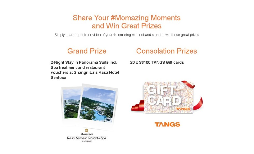 Scott's Singapore Win a Staycation at Shangri-La's Rasa Hotel Sentosa or TANGS shopping vouchers