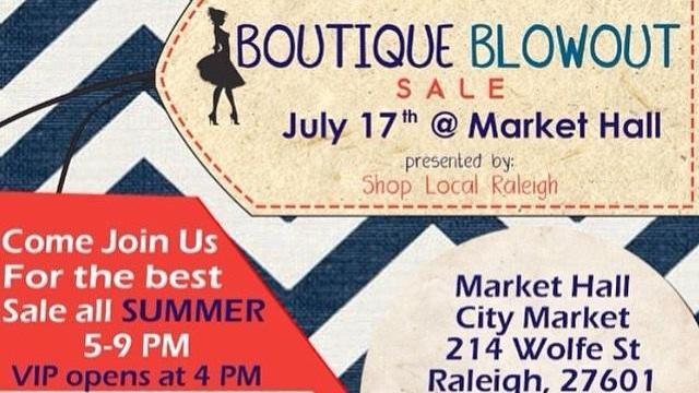 WRAL Giveaway VIP tickets to Boutique Blowout