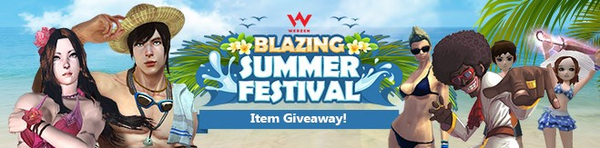 Webzen Blazing Summer Festival Item Giveaway