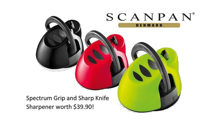 Win SCANPAN Spectrum Grip and Sharp Knife Sharpener
