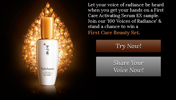 Win a First Care Beauty Set at Sulwhasoo Malaysia