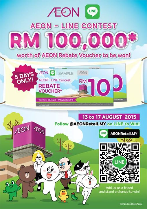 AEON-LINE Contest- Win RM100,000 worth of AEON Rebate Voucher