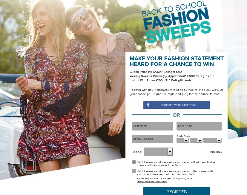 Belk Back to School Fashio Sweeps