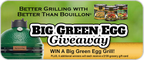 Big Green Egg Giveaway at Better Than Bouillon USA