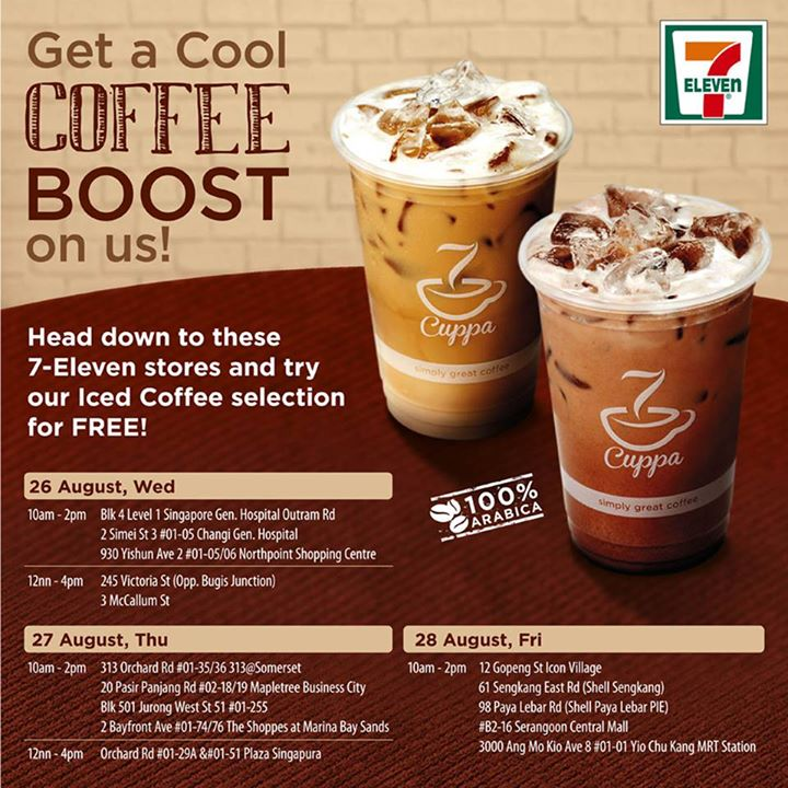 FREE Iced Coffee Selection at 7-Eleven Singapore