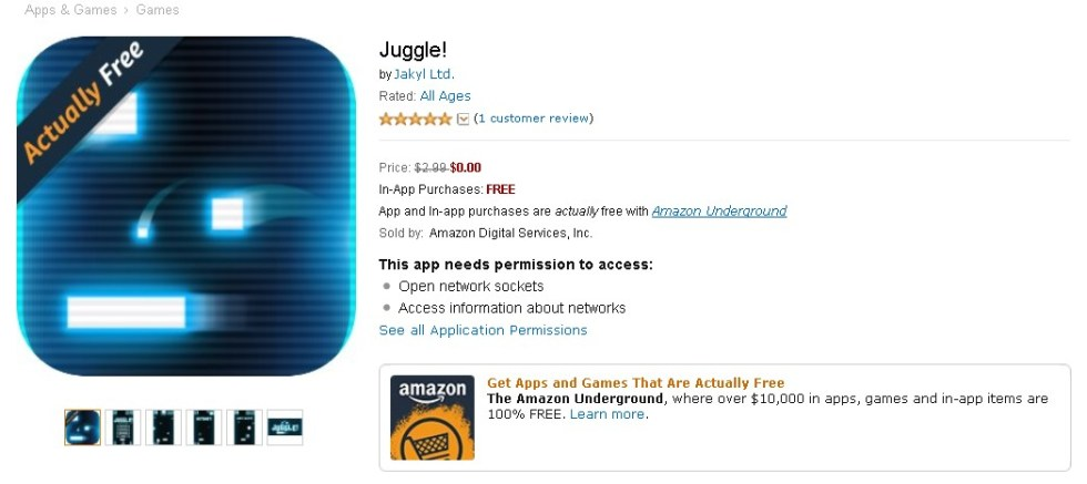 FREE Juggle! at Amazon