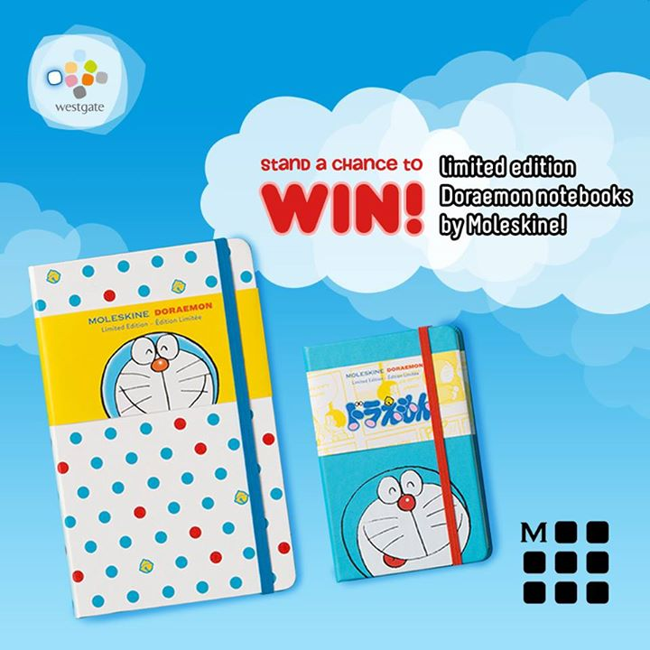 FREE Moleskine Doraemon Limited Edition Collection at Westgate Singapore