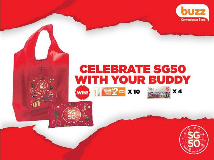 FREE SG50 foldable bags at Buzz Singapore