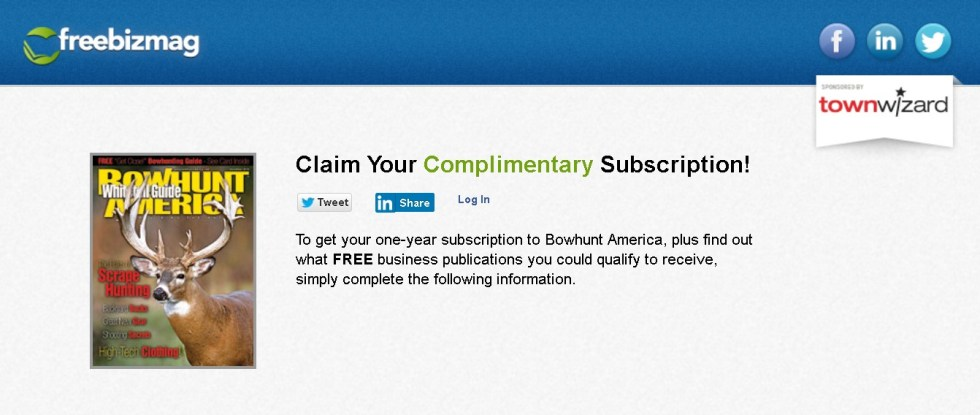 FREE one-year subscription to Bowhunt America Magazine 1