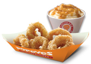 Free 5 pc Calamari + 1 regular Mashed Potato at Popeyes!