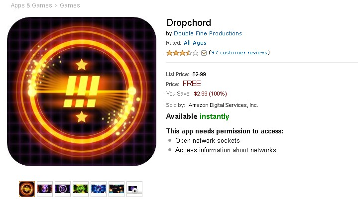 Free Android Game Dropchord at Amazon AppStore