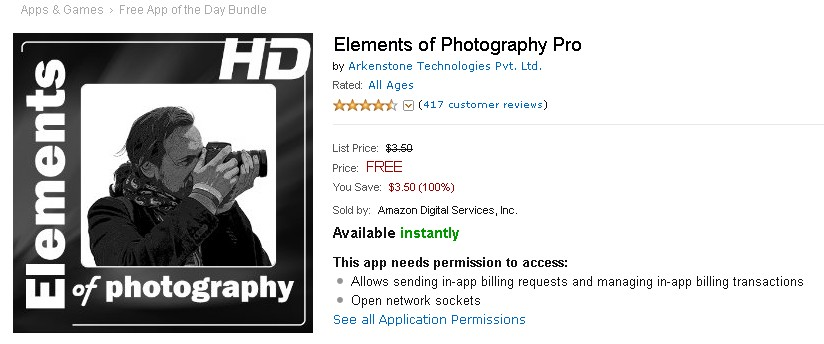 Free Android at Amazon Appstore Elements of Photography Pro