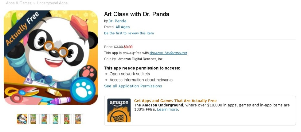 Free Art Class with Dr. Panda at Amazon 1