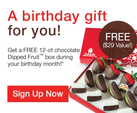Free Birthday Gift at Edible Arrangements