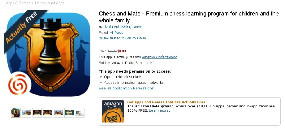 Free Chess and Mate - Premium chess learning program for children and the whole family at Amazon