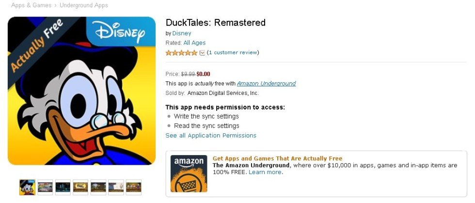 Free DuckTales Remastered Game at Amazon