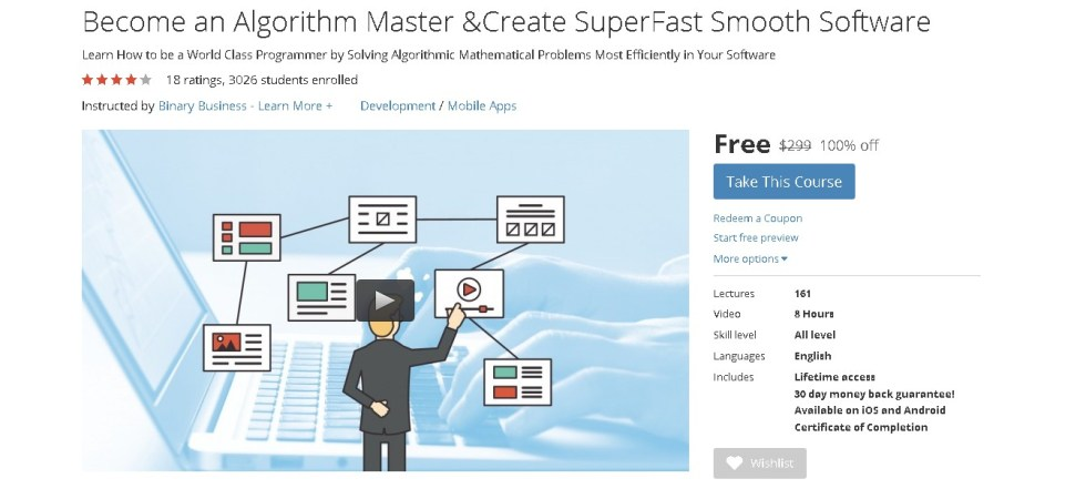 Free Udemy Course on Become an Algorithm Master & Create SuperFast Smooth Software