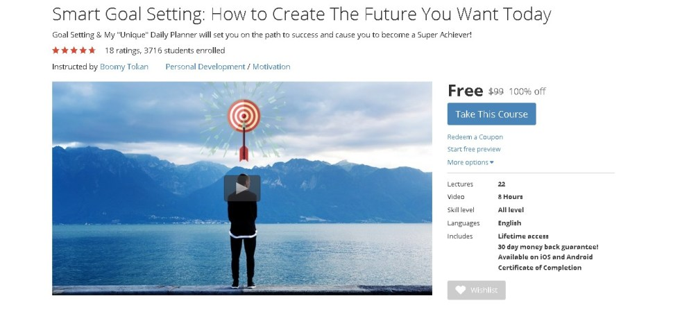 Free Udemy Course on Smart Goal Setting How to Create The Future You Want Today