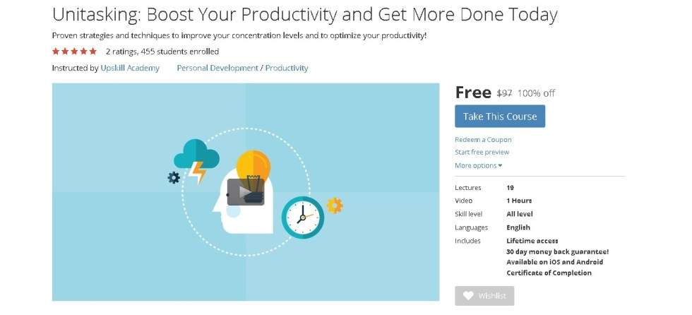 Free Udemy Course on Unitasking Boost Your Productivity and Get More Done Today