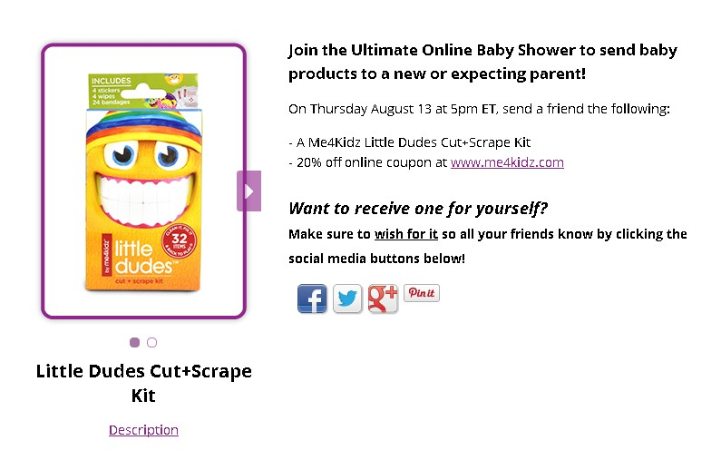 Get a FREE Me4Kidz Little Dudes Cut+Scrape Kit  1