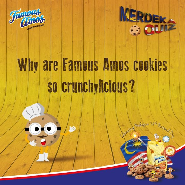 Merdeka Quiz #6 Win more goodies at Famous Amos Malaysia