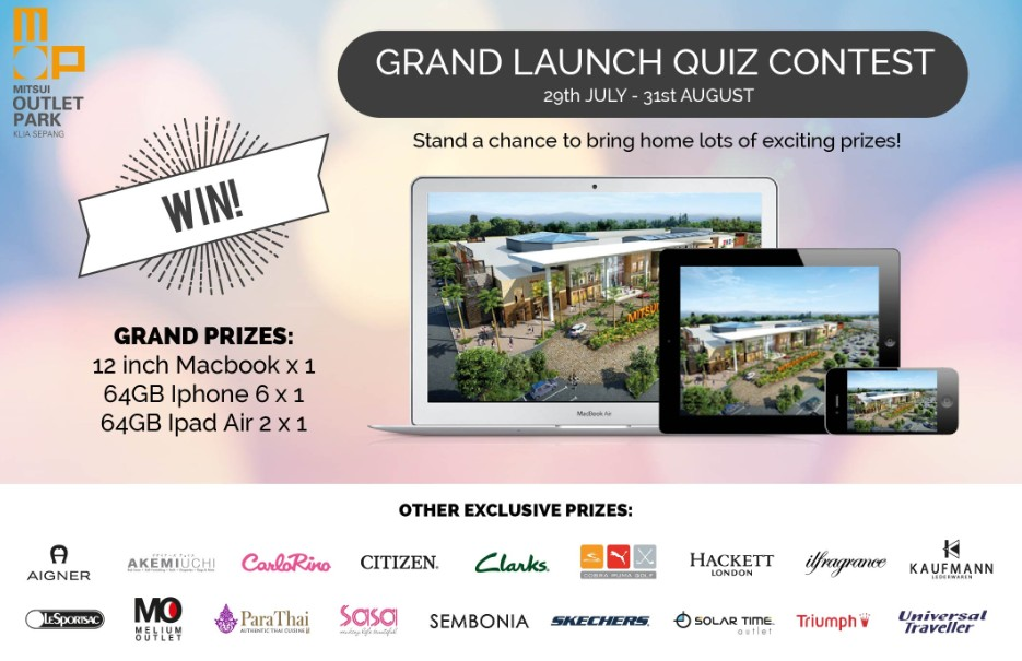 Mitsui Outlet Park KLIA Sepang Grand Launch Quiz Contest