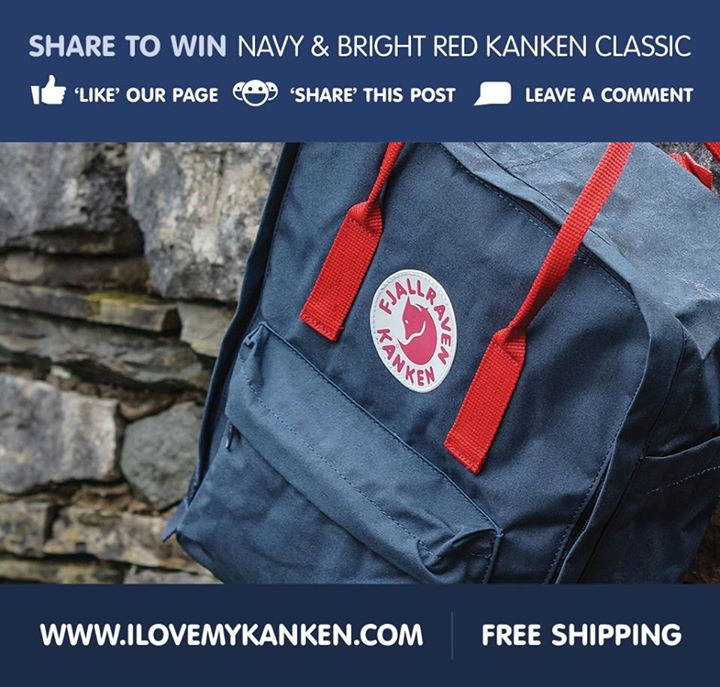 Share to Win Navy & Bright Red Kanken Classic