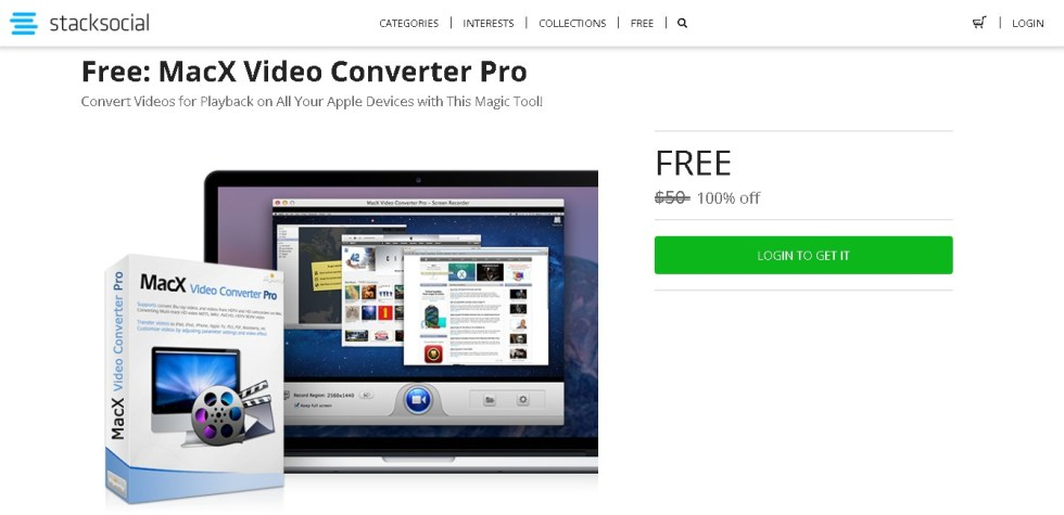 Stack Social Giveaway FREE MacX Video Converter Pro