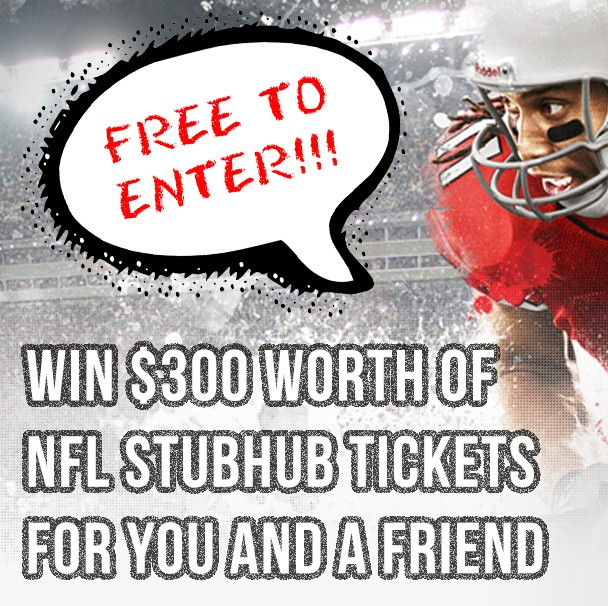 WIN $300 WORTH OF NFL TICKETS FROM STUBHUB