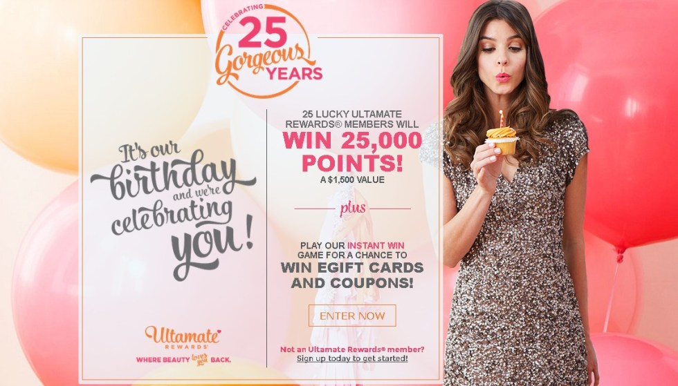 Win Egift cards & coupons at Ulta Beauty