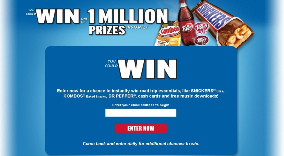 Win One of 1 Million Prizes @ Road Trip