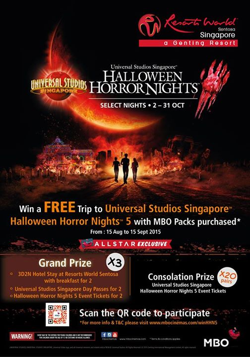Win a FREE trip to Universal Studios Singapore™ Halloween Horror Nights™ 5!