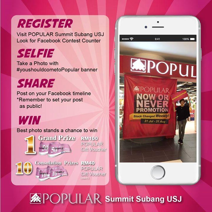 Win exciting prizes at Popular Book Co (M) Sdn Bhd